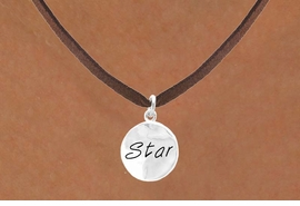 "<bR>        EXCLUSIVELY OURS!!<Br>       LEAD & NICKEL FREE!!<BR>W296SN - ""STAR"" CIRCLE &<BR>NECKLACE AS LOW AS $4.50"