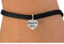 """<bR>                EXCLUSIVELY OURS!!<Br>               LEAD & NICKEL FREE!!<BR>         W297SB - """"AMAZING STAR""""<br>HEART & BRACELET AS LOW AS $4.50"""