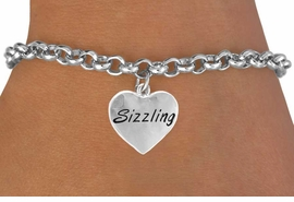 """<bR>           EXCLUSIVELY OURS!!<Br>          LEAD & NICKEL FREE!!<BR> W301SB - """"SIZZLING"""" HEART<Br>& BRACELET AS LOW AS $4.50"""