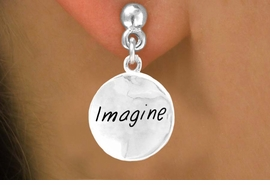 "<bR>          EXCLUSIVELY OURS!!<Br>         LEAD & NICKEL FREE!!<BR> W305SE - ""IMAGINE"" CIRCLE<Br>& EARRINGS FROM $4.50 TO $8.35"