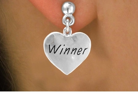 "<bR>          EXCLUSIVELY OURS!!<Br>         LEAD & NICKEL FREE!!<BR>W311SE - ""WINNER"" HEART &<Br>  EARRINGS FROM $4.50 TO $8.35"