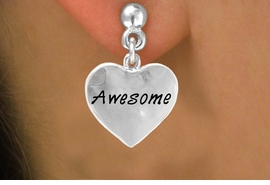 "<bR>          EXCLUSIVELY OURS!!<Br>         LEAD & NICKEL FREE!!<BR>W313SE - ""AWESOME"" HEART<Br>& EARRINGS FROM $4.50 TO $8.35"