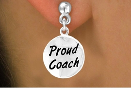 "<bR>       EXCLUSIVELY OURS!!<Br>      LEAD & NICKEL FREE!!<BR> W314SE - ""PROUD COACH""<Br>EARRINGS FROM $4.50 TO $8.35"