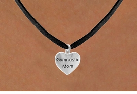 "<bR>                   EXCLUSIVELY OURS!!<Br>                  LEAD & NICKEL FREE!!<BR>W315SN - ""GYMNASTIC MOM"" HEART<br>CHARM & NECKLACE AS LOW AS $4.50"