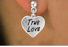 "<bR>           EXCLUSIVELY OURS!!<Br>          LEAD & NICKEL FREE!!<BR>W317SE - ""TRUE LOVE"" HEART<Br>& EARRINGS FROM $4.50 TO $8.35"