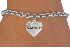 "<bR>             EXCLUSIVELY OURS!!<Br>            LEAD & NICKEL FREE!!<BR>W318SB - ""WONDERFUL"" HEART<Br>   & BRACELET AS LOW AS $4.50"