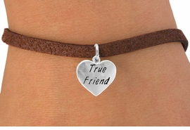 "<bR>             EXCLUSIVELY OURS!!<Br>            LEAD & NICKEL FREE!!<BR>W319SB - ""TRUE FRIEND"" HEART<Br>   & BRACELET AS LOW AS $4.50"