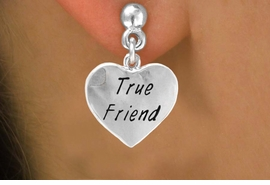 "<bR>             EXCLUSIVELY OURS!!<Br>            LEAD & NICKEL FREE!!<BR>W319SE - ""TRUE FRIEND"" HEART<Br>   & EARRINGS FROM $4.50 TO $8.35"