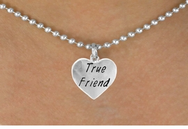 "<bR>             EXCLUSIVELY OURS!!<Br>            LEAD & NICKEL FREE!!<BR>W319SN - ""TRUE FRIEND"" HEART<br>   & NECKLACE AS LOW AS $4.50"