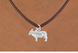 <bR>              EXCLUSIVELY OURS!!<Br>             LEAD & NICKEL FREE!!<BR>W321SN - BRAHMA BULL CHARM<br>    & NECKLACE AS LOW AS $4.50