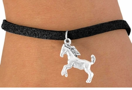 <bR>          EXCLUSIVELY OURS!!<Br>         LEAD & NICKEL FREE!!<BR> W322SB - STALLION CHARM<Br>& BRACELET AS LOW AS $4.50
