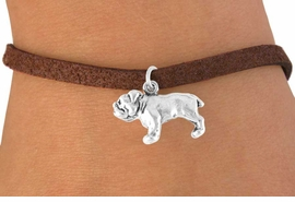 <bR>          EXCLUSIVELY OURS!!<Br>         LEAD & NICKEL FREE!!<BR> W323SB - BULLDOG CHARM<Br>& BRACELET AS LOW AS $4.50