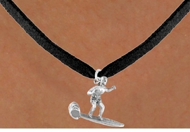 <bR>             EXCLUSIVELY OURS!!<Br>            LEAD & NICKEL FREE!!<BR>W325SN - MALE SURFER CHARM<br>   & NECKLACE AS LOW AS $4.50