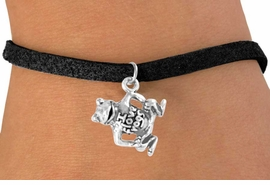 "<bR>                 EXCLUSIVELY OURS!!<Br>                LEAD & NICKEL FREE!!<BR>     W329SB - ""I LOVE FROGS"" FROG<Br>CHARM & BRACELET AS LOW AS $4.50"