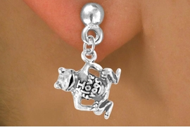 "<bR>               EXCLUSIVELY OURS!!<Br>              LEAD & NICKEL FREE!!<BR>W329SE - ""I LOVE FROGS"" CHARM<Br>      & EARRINGS FROM $4.50 TO $8.35"