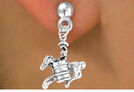 "<bR>              EXCLUSIVELY OURS!!<Br>             LEAD & NICKEL FREE!!<BR>W331SE - ""BARREL RACING"" GIRL<Br>    & EARRINGS FROM $4.50 TO $8.35"