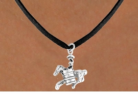 "<bR>              EXCLUSIVELY OURS!!<Br>             LEAD & NICKEL FREE!!<BR>W331SN - ""BARREL RACING"" GIRL<br>    & NECKLACE AS LOW AS $4.50"