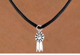 "<bR>        EXCLUSIVELY OURS!!<Br>       LEAD & NICKEL FREE!!<BR> W332SN - ""1ST"" RIBBON &<br>NECKLACE AS LOW AS $4.50"