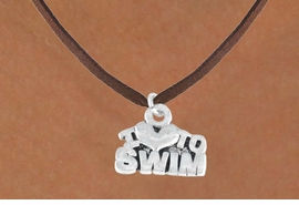 "<bR>         EXCLUSIVELY OURS!!<Br>        LEAD & NICKEL FREE!!<BR>W334SN - ""I LOVE TO SWIM""<Br> NECKLACE AS LOW AS $4.50"