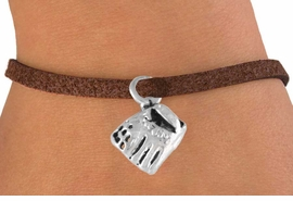 <bR>        EXCLUSIVELY OURS!!<Br>       LEAD & NICKEL FREE!!<BR>W339SB - BASEBALL GLOVE<Br> BRACELET AS LOW AS $4.50
