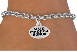 "<bR>          EXCLUSIVELY OURS!!<Br>         LEAD & NICKEL FREE!!<BR>   W341SB - ""MAID OF HONOR""<Br>& BRACELET FROM $4.50 TO $8.35"