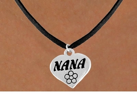 "<bR>          EXCLUSIVELY OURS!!<Br>         LEAD & NICKEL FREE!!<BR>   W344SN - ""NANA"" HEART &<br>NECKLACE FROM $4.50 TO $8.35"