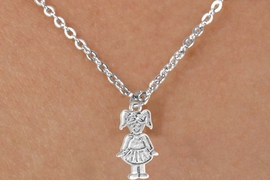 <bR> EXCLUSIVELY OURS!!<Br> LEAD & NICKEL FREE!!<BR> W347SN - TAP DANCER<br>CHARM NECKLACE FOR $3.65