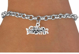 "<bR>           EXCLUSIVELY OURS!!<Br>          LEAD & NICKEL FREE!!<BR>W352SB - ""GRANDDAUGHTER""<Br>    BRACELET AS LOW AS $4.50"