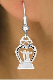 "<bR>            EXCLUSIVELY OURS!!<Br>           LEAD & NICKEL FREE!!<BR>   W354SE - ""WEDDING HEART""<Br>& EARRINGS FROM $4.50 TO $8.35"