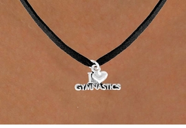 "<bR>              EXCLUSIVELY OURS!!<Br>             LEAD & NICKEL FREE!! <BR>W355SN - ""I LOVE GYMNASTICS""<Br>           CHARM AND NECKLACE <br>       AS LOW AS $3.65"