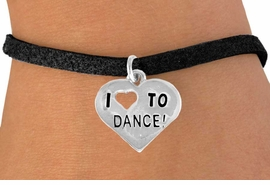 "<bR> EXCLUSIVELY OURS!!<BR> LEAD & NICKEL FREE!!<BR> W534SB - ""I LOVE TO DANCE"" <Br> CHARM BRACELET FOR $3.25"