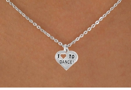 "<bR> EXCLUSIVELY OURS!!<BR> LEAD & NICKEL FREE!!<BR> W534SN - ""I LOVE TO DANCE"" <BR> CHARM NECKLACE FOR $3.65"