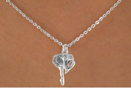 <bR> EXCLUSIVELY OURS!!<BR> LEAD & NICKEL FREE!!<BR>W791SN - BALLERINA CHARM <BR> NECKLACE FOR $3.65