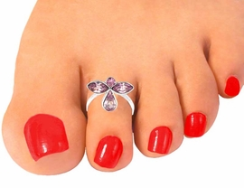 "<br>                      EXCLUSIVELY OURS!!!<BR>W10481TR - PURPLE AUSTRIAN CRYSTAL<Br> ""GUARDIAN ANGEL"" STRETCH TOE RING<br>                    FROM $2.20 TO $7.50"