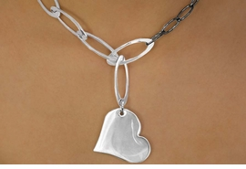 <br>                     EXCLUSIVELY OURS!!!<bR>     W10916N - TWO-TONE OVAL LINK &<Br>HEART DROP NECKLACE AS LOW AS $5.60