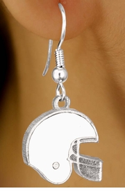 <br>        EXCLUSIVELY OURS!!!<BR>W10927E - WHITE FOOTBALL<br>           HELMET EARRINGS<br>            AS LOW AS $2.40