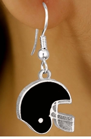 <br>         EXCLUSIVELY OURS!!!<BR>W10928E - BLACK FOOTBALL<br>           HELMET EARRINGS<br>             AS LOW AS $2.40