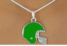 <Br>                   EXCLUSIVELY OURS!!!<Br>W11525N - GREEN FOOTBALL HELMET<br>           NECKLACE AS LOW AS $2.55