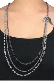 "<bR>                          EXCLUSIVELY OURS!!!<Br>  W11556NE - GUNMETAL GRAY FAUX PEARL<br>      & MULTI CHAIN ""LOVE"" & ANGEL WING<Br>                    NECKLACE & EARRING SET<br>                             AS LOW AS $14.75"