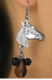 <br>                    EXCLUSIVELY OURS!!!<BR> W11710NE - STERLING SILVER PLATED<Br>       THROUGHBRED HORSE & HEART<Br>BEAD DROP NECKLACE & EARRING SET<br>                       AS LOW AS $18.75