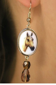 <Br>                     EXCLUSIVELY OURS!!!<br>       W11721E - POLISHED GOLD TONE<Br>PALOMINO COLORED HORSE EARRINGS<br>                          AS LOW AS $5.90