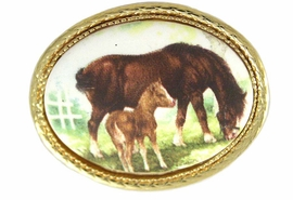 <BR>                  EXCLUSIVELY OURS!!!<BR>W11839P - GOLD TONE MARE & FOAL<br>           OVAL PIN AS LOW AS $5.60
