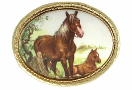 <BR>                  EXCLUSIVELY OURS!!!<Br>W11840P - GOLD TONE MARE & FOAL<br>           OVAL PIN AS LOW AS $5.60