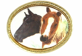 <Br>                    EXCLUSIVELY OURS!!!<BR>   W11843P - BROWN & BLACK HORSE<Br>GOLD TONE OVAL PIN AS LOW AS $5.60