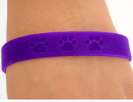 <bR>        EXCLUSIVELY OURS!!<Br>W4567JPB - ROYAL PURPLE<BR> SCHOOL SPIRIT PAW JELLY<br>  BRACELETS©2004 FROM<Br>               $.97 TO $5.00