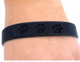 <bR>      EXCLUSIVELY OURS!!<Br>   W4569JPB - JET BLACK<BR>SCHOOL SPIRIT PAW JELLY<br> BRACELETS©2004 FROM<Br>               $.97 TO $5.00