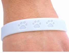 <bR>       EXCLUSIVELY OURS!!<Br>  W4570JPB - PURE WHITE<BR>SCHOOL SPIRIT PAW JELLY<br> BRACELETS©2004 FROM<Br>               $.97 TO $5.00