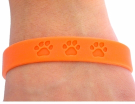 <bR>           EXCLUSIVELY OURS!!<Br>W4571JPB - VIBRANT ORANGE<BR>    SCHOOL SPIRIT PAW JELLY<br>     BRACELETS©2004 FROM<Br>                  $.97 TO $5.00