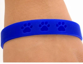 <bR>      EXCLUSIVELY OURS!!<Br>W4572JPB - BRIGHT BLUE<BR>SCHOOL SPIRIT PAW JELLY<br> BRACELETS©2004 FROM<Br>              $.97 TO $5.00