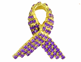 <BR>                         EXCLUSIVELY OURS!!!<bR> W8498P - GENUINE TANZANITE GEMSTONE<Br>     GOLD FINISH TRIM AWARENESS RIBBON<Br>                         PIN AS LOW AS $6.75